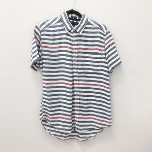 Tommy Hilfiger Stripped Short Sleeve Button-down
